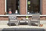 Allibert by Keter Delano Outdoor Furniture 2 Seater Set - Cappuccino with Sand Cushions