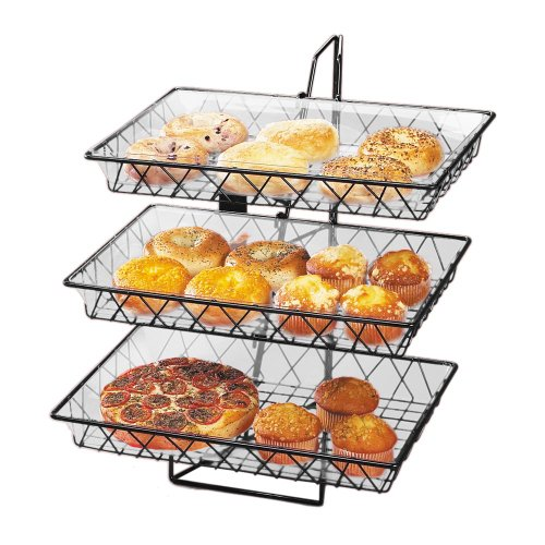 Cal-Mil 1291-3 Black 3 Tier Wire Basket Rack