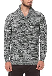 Shuffle Men's Cotton Sweater (8907423023031_2021521301_X-Large_Grey)