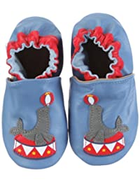 ROBEEZ Infant Toddler Boys Slip on Shoes Seal The Show Ocean Blue 12-18 Months