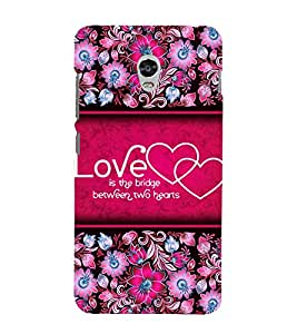 Love Quote 3D Hard Polycarbonate Designer Back Case Cover for Lenovo Vibe P1