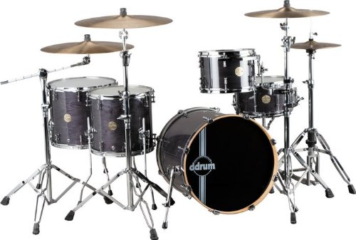 ddrum Dios Maple 5-Piece Shell Pack Transparent Black