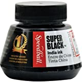 Speedball Art Products 1-Piece 2 oz Speedball Super Black India Ink