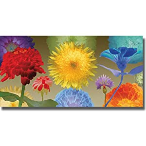 Sunflower Fireworks by Robert Mertens Premium Oversize Stretched Canvas (Ready to Hang)