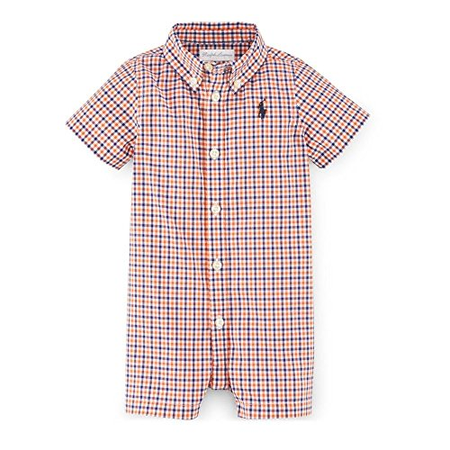 Ralph Lauren Check Shortall for Baby Boys, 6 Months, Orange Multi
