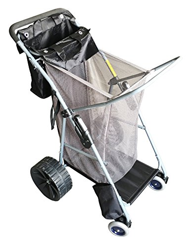 SueSport Collapsible Folding Utility All Terrain Beach Cart Beach Wagon Basket Buggy Tote (Beach Wagon With Big Wheels compare prices)
