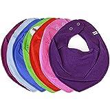 HALSTUCH Dreieckstuch Baby Kinder mit Druckknöpfen doppellagig verschiedene Uni Farben
