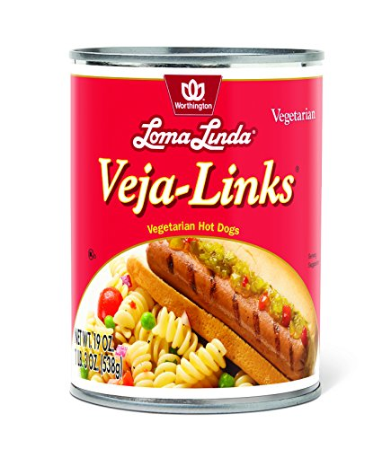 Loma Linda Vegetarian Meat Substitutes, Veja-Links, 19 Ounce (Pack of 12) (Hot Dog Links compare prices)