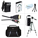 Essential Accessories Bundle Kit For Sony HDR-CX240, HDR-PJ275, HDR-CX440, HDR-CX405, HDR-PJ440, FDR-X1000V, AS200V, HDR-AS30V, HDR-AS15 Camera Includes Extended Replacement (1600maH) NP-BX1 Battery + AC/DC Charger + Micro HDMI Cable + Case + 50 Tripod ++