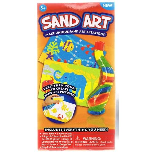 Sand Art Creations  Sand Bottle & Pattern Cards Toys