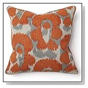 Leopard Print Orange Throw Pillow