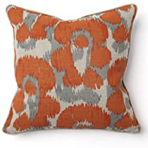 Leopard Print Orange Throw Pillow - Set of 2