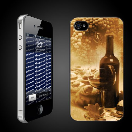 Wine Theme Vintage Wine Photo   iPhone Hard Case   CLEAR Protective iPhone 4/iPhone 4S Case