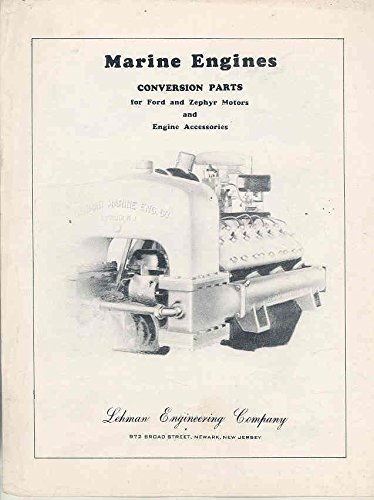 1928-1938 Ford Lincoln Zephyr Lehman Marine Engines Brochure (1938 Lincoln Zephyr compare prices)