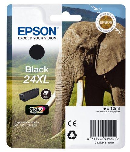 Epson T2431 Tintenpatrone Elefant XL, Singlepack schwarz