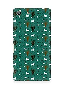 Amez designer printed 3d premium high quality back case cover for Sony Xperia M5 (goat pattern green)