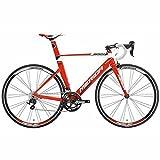 メリダ(MERIDA) ロードバイク REACTO 400 レッド/ホワイト(ブラック) 47サイズ