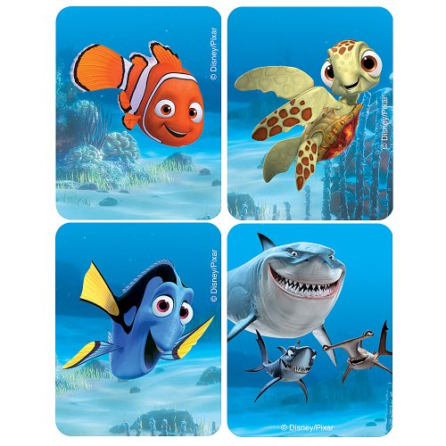 Disney Finding Nemo Flicker Stickers - Party Favors - 50 per Pack - 1