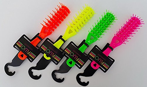 GUENZANI PETTINE CAPELLI LINEA FLUO GIALLA MADE IN ITALY TOP QUALITY