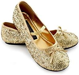 Sparkle Ballerina Shoes Child (gold) - Large (2/3)