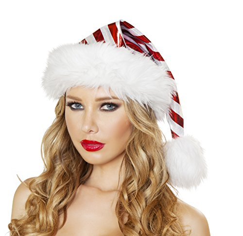 Roma Costume Women's Red White Striped Christmas Hat