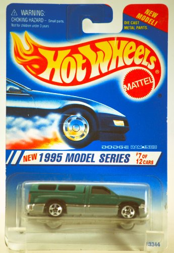 1994 - Mattel / Hot Wheels - 1995 Model Series - Dodge Ram 1500 - Green - Die Cast - #7 of 12 - MOC - Limited Edition - Collectible - 1
