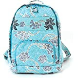 Floral Quilted Cotton Backpack