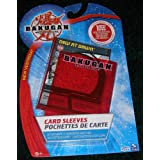 BAKUGAN SEASON 2 VESTROIA PYRUS RED CARD SLEEVES PROTECTORS (40 SLEEVES) + 1 HIDDEN REVEAL CARD (CARD WILL VARY...
