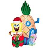 Christmas inflatable spongebob squarepants with gary and pineapple home yard art prop decoration