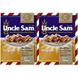 Uncle Sam Toasted Whole Wheat Berry Flakes & Flaxseed Original Cereal Boxes - 10 oz - 2 pk