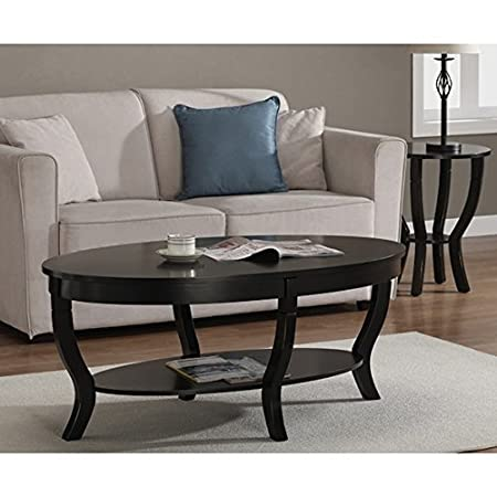Lewis Distressed Black Round Coffee Table