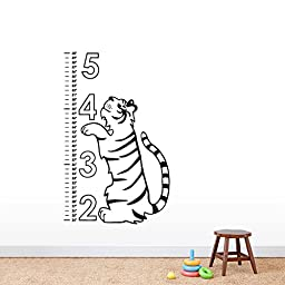 Tiger Growth Chart - Wall Decals