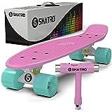 Skatro - Mini Cruiser Skateboard. 22x6inch Retro Style Plastic board Comes Complete. Model: Pastel Paradise