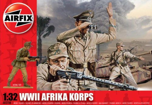 Airfix A02708 1:32 Scale Afrika Korps Figures Classic Kit Series 2 - 1