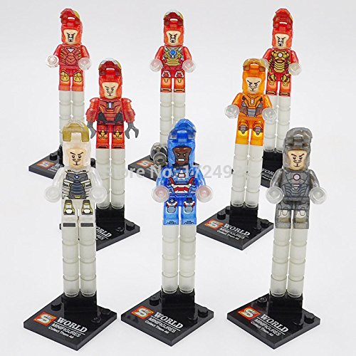 Iron Man Crystal Avenger Marvel DC MiniFigures Toy Super Heroes Series Action Figure Building Blocks Brikcs Set Compatible Lego