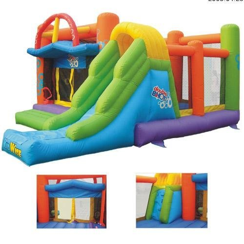Inflatable Double Shot Bouncer Commercial