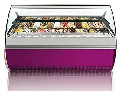 VENTURA L II ZIP Gelato Ice Cream Showcase Display Freezer / Gelato Machine Z9 (5 Liter Pan / 18 Flavors) from OTL/Orion