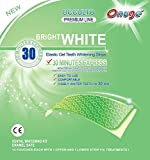 Neue, verbesserte Formel(30min Express)! Onuge 28 WHITESTRIPS Zahnaufhellungs-Streifen (mit Advanced no-slip technology) professional bleaching für Zähne Zahnweiss stripes Occulto Premium Line