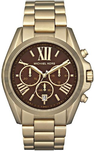 Michael Kors Bradshaw Gold-Tone Chronograph Ladies