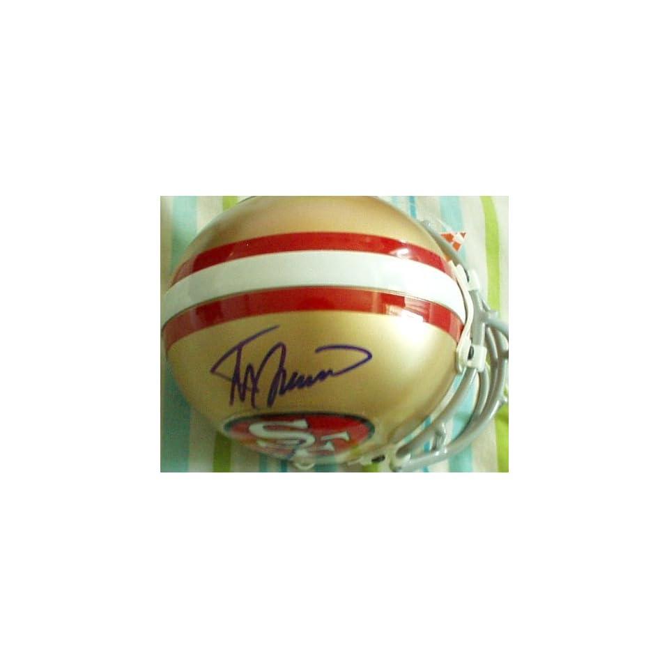 Steve Spurrier autographed San Francisco 49ers mini helmet