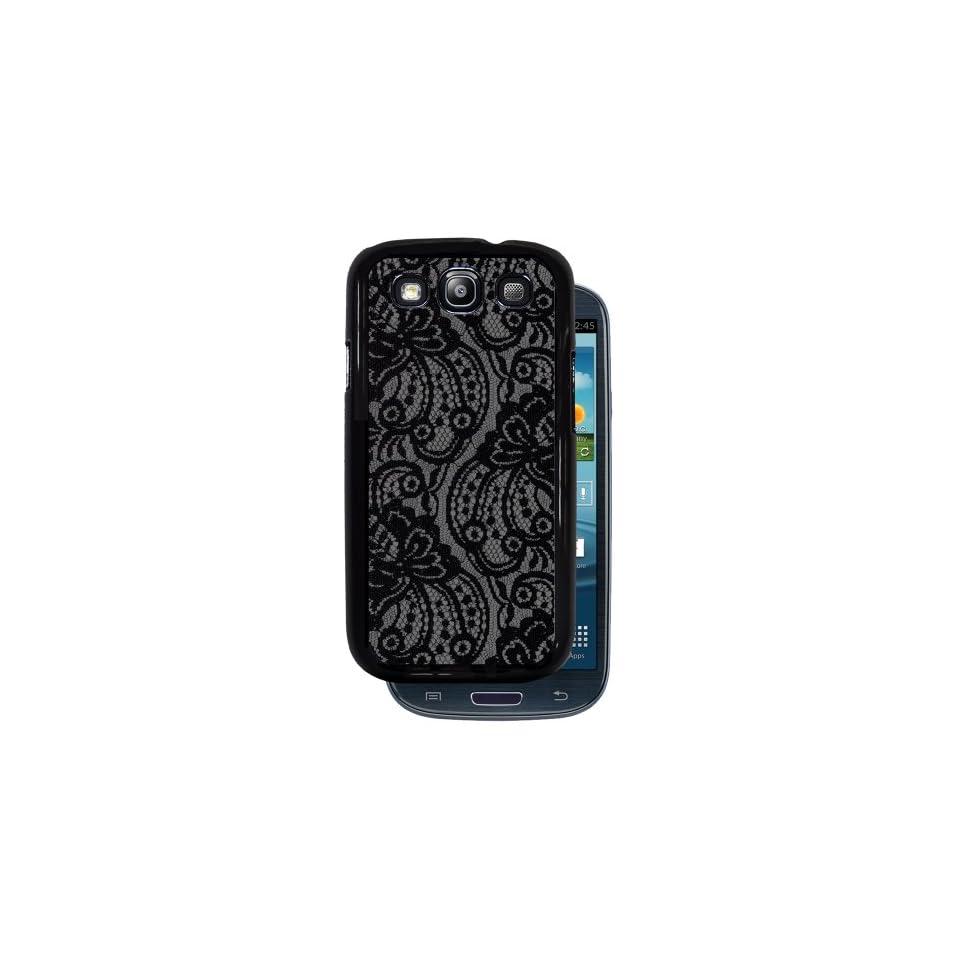 Pretty Black Lace   Black Protective Rubber Cover Samsung Galaxy S3 i9300 Phone