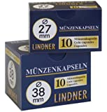Lindner Münzenkapseln 38 mm (10 Stück) [Lindner 2250038]