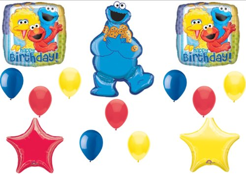 Cookie Monster Elmo Sesame Street Birthday Party Balloons Decorations Supplies - 1