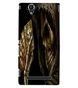ColourCraft Skeleton Design Back Case Cover for SONY XPERIA T2 ULTRA