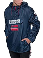 Geographical Norway Chaqueta Impermeable Brest (Azul Marino)