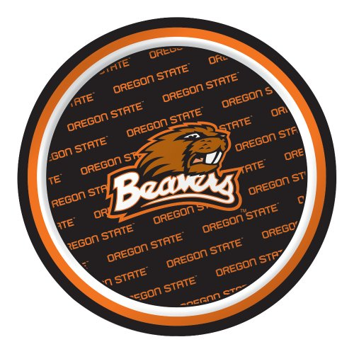 Creative Converting 8 Count Oregon State Beavers Paper Dessert Plates