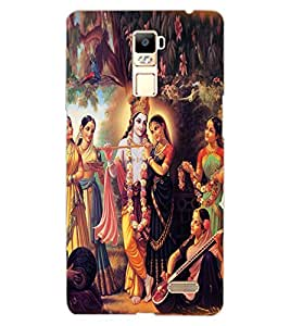 ColourCraft Radha Krishan Design Back Case Cover for OPPO R7
