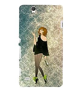 Party Fun Girl 3D Hard Polycarbonate Designer Back Case Cover for Sony Xperia C4 Dual E5333 E5343 E5363 :: Sony Xperia C4 E5303 E5306 E5353