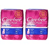 Carefree Body Shape Regular Unscented, 54-count (Pack of 2)