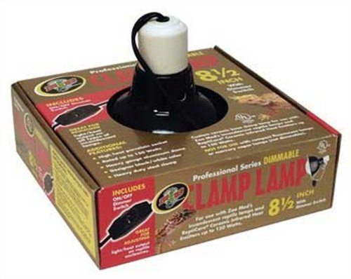 Zoo Med Deluxe Dimmable Clamp Lamp with 8.5-Inch Dome, Black (Zoo Ceramic Heater compare prices)